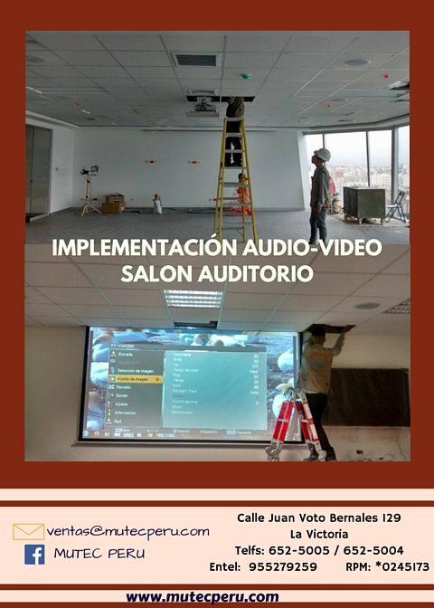 implementacion audio video